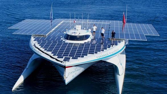 Cel mai mare vapor cu panouri solare, in misiune arheologica in Marea Egee