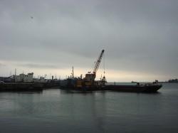 Poluare in portul Constanta de la doua nave scufundate in 1995