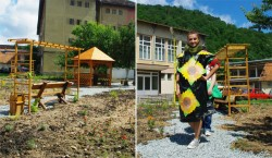 Moda reciclabila in parc scolar eco