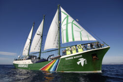 Vasul organizatiei Greenpeace, in vizita la Constanta
