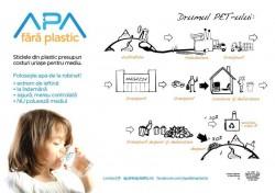"""Apa fara Plastic"", un proiect care promoveaza consumul de apa de la robinet"