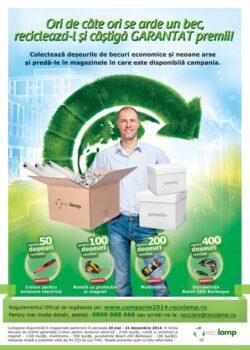 « Ori de cate ori se arde un bec, recicleaza-l si castiga garantat premii! » in campania nationala a Asociatiei Recolamp