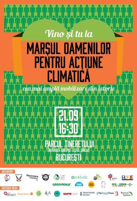 """""""Mar?ul global pentru ac?iune climatic?"""" - in Bucure?ti pe data de 21 septembrie, ora 16:30"""