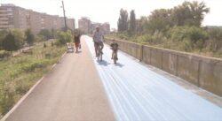 Viitoarea pista pentru biciclete din Arad incepe sa prinda culoare