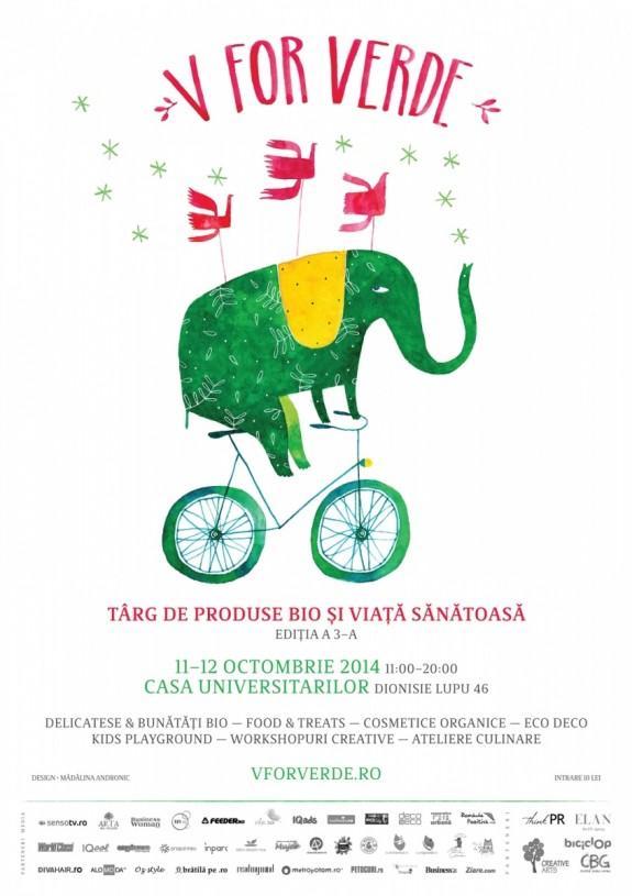 V for VERDE – targ de produse bio si viata sanatoasa / a 3-a editie, 11 si 12 octombrie