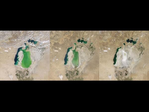 Dezastru ecologic: Marea Aral practic a disp?rut