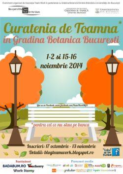 """Curatenia de Toamna in Gradina Botanica """"Dimitrie Brandza"""" a Universitatii din Bucuresti, editia 2014"""