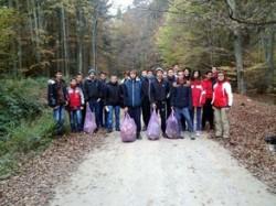 """Bobocii de la """"Onisifor Ghibu"""", ecologisti pentru o zi"""