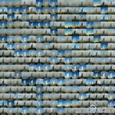 Vezi nivelul incredibil de poluare din Beijing. Un b?rbat a fotografiat timp de un an aceea?i cl?dire