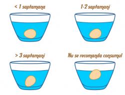 Determinarea gradului de prospetime a oualor de gaina