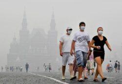 Poluare la Moscova! Autoritatile au indemnat locuitorii orasului sa nu iasa afara
