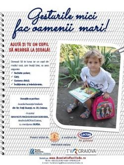 "Asociatia Vasiliada a demarat Campania ""Gesturile mici fac oamenii mari!"""