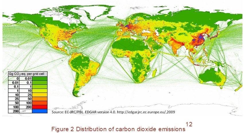 Sase tari sunt responsabile de aproape 60% din emisiile de dioxid de carbon