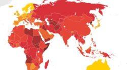 """Harta tarilor """"desfranate"""": cat de corupta este Romania"""