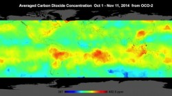 Un satelit NASA a realizat prima harta care prezinta in detaliu concentratia de CO2 din atmosfera Terrei
