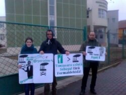 Protest impotriva poluarii la Timisoara