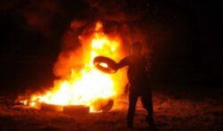 Anvelopele arse in noaptea Invierii, un mare pericol pentru sanatate si o sursa de poluare a aerului