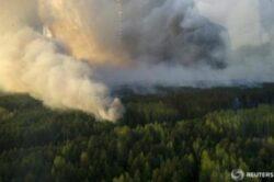 Incendiul de langa Cernobil a fost localizat de pompieri la 5 km de gropile cu deseuri radioactive