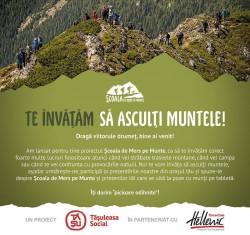 """Tăşuleasa Social deschide """"Şcoala de mers pe munte"""": """"Te învăţăm să asculţi muntele!"""""""