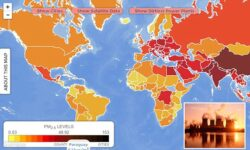 Harta interactiva a poluarii